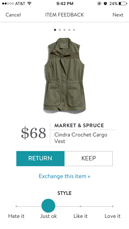 Stitch fix Market & Spruce Cindra crochet cargo vest- https://www.stitchfix.com/referral/10397149