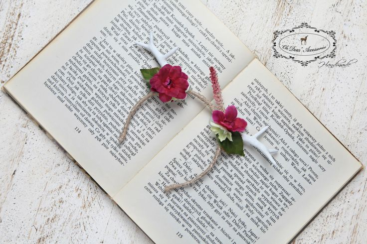 antler headband,photo session,photo prop,6-18 months old,fuchsia,woodland,nature inspired,first birthday,smash cake,fairy by OhDearAccessories on Etsy