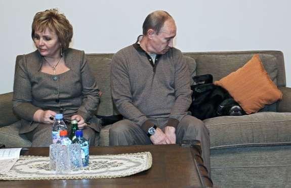 Vladimir Putin and now ex-wife Lyudmila