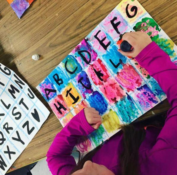 Within the Artwork Room: Kindergarten Alphabet Work (Cassie Stephens)