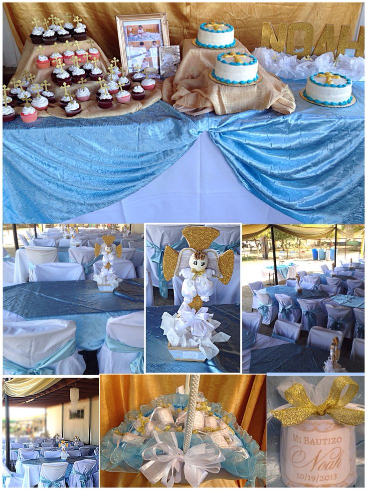 Baby noah 39 s baptism decorations baptism pinterest for Baby baptism decoration ideas