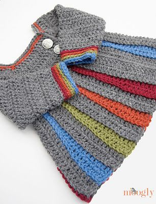 free crochet pattern baby sweater--Someone have a baby girl so I can make this!!!!
