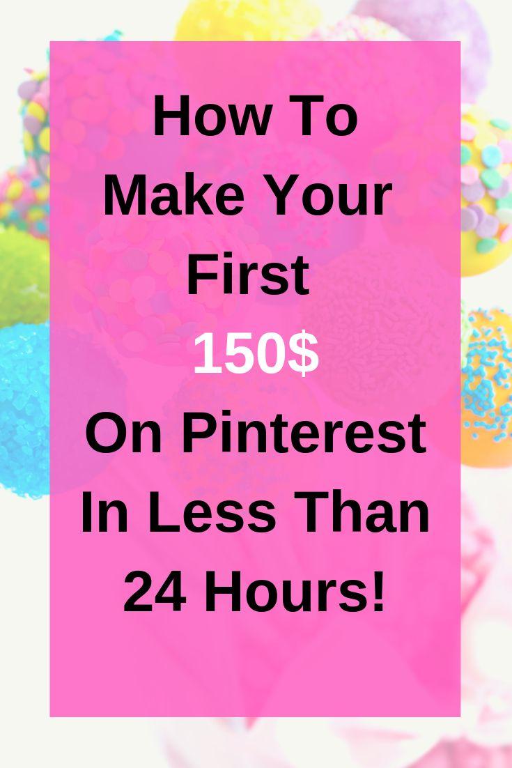 How to make your first $150 on Pinterest in less than 24 hours! – Entrepreneur | Entrepreneurship| entrepreneur mindset| influencer marketing tips | Entrepreneur quot