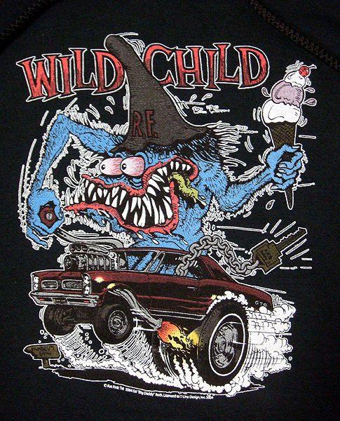 ラットフィンク パーカー 『WILD CHILD』 RatFink /Ed Roth エドロス