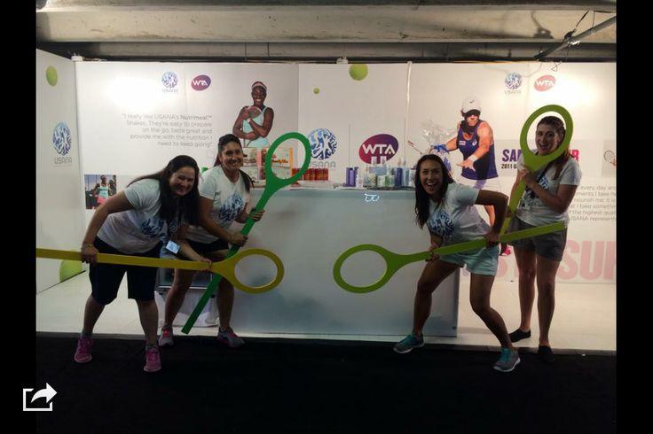 WTA sponsor, Usana, our team having fun representing