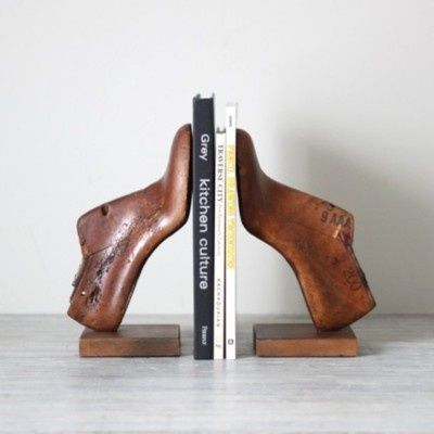 Shoe lasts as bookmarks. May I share my frustration with Tumblr and the lack of attribution? Where did this photograph come from? Whose idea was this?