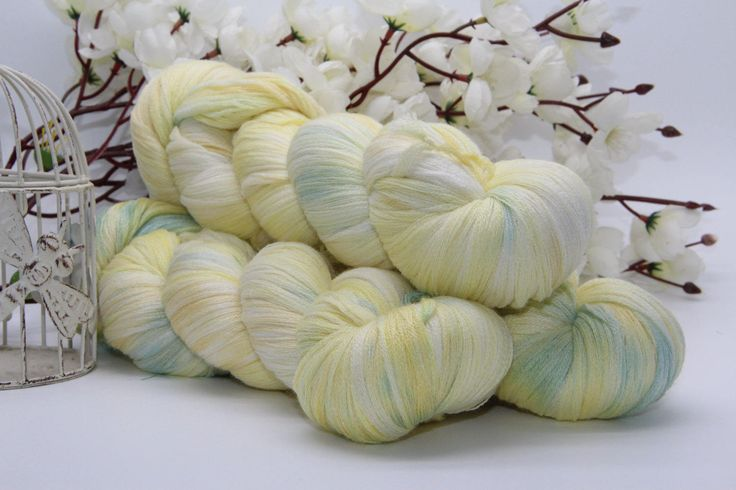 Hand dyeing,  Merino/Cashmere/silk, 284 yards/260 meters, Jack Frost by PositiveCreative on Etsy