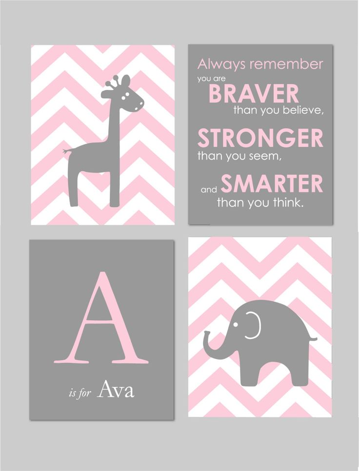 Pink+and+Grey+Nursery+Baby+Girl+Nursery+Pink+and+by+karimachal