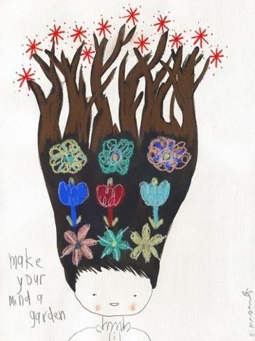 """Make Your Mind A Garden"" by Emma Magenta  #art #drawing #illustration"