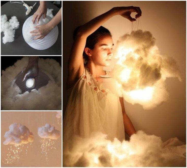 Willst du auf Wolke 7 schweben? Diese DIY Deko-Hängelampe macht es möglich!