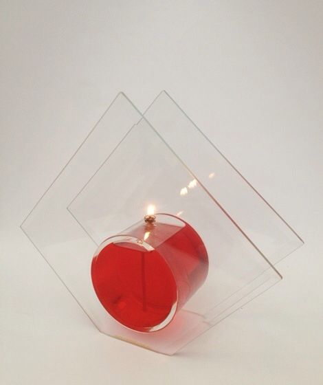 $30 ..glass diamond candle with red oil, ex GST, ext post.....