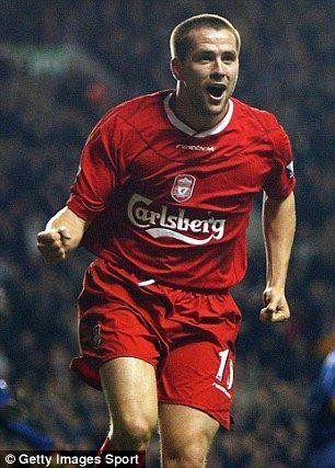 Michael Owen scored 118 Premier League goals for Liverpool