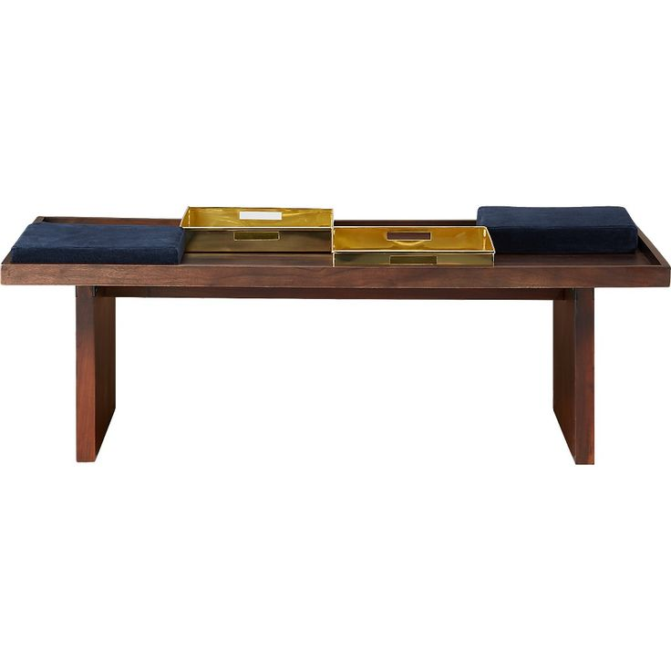 Shop bento coffee table with two trays and two cushions. Designer Ross Cassidy reimagines the Japanese serving set in functional furniture form.