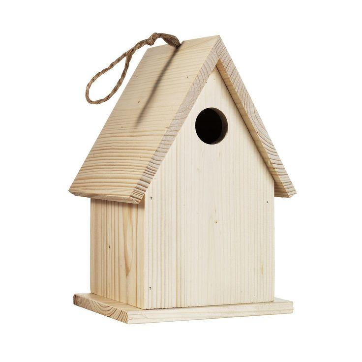 Fuglehus av tre til verandaen
