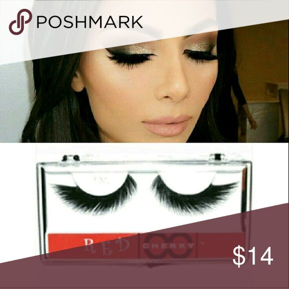 *RESTOCKED* 5??Cherry Lashes Five star beautiful full red cherry lashes. Perfect for a night out or a stocking stuffer. Red Cherry  Makeup False Eyelashes
