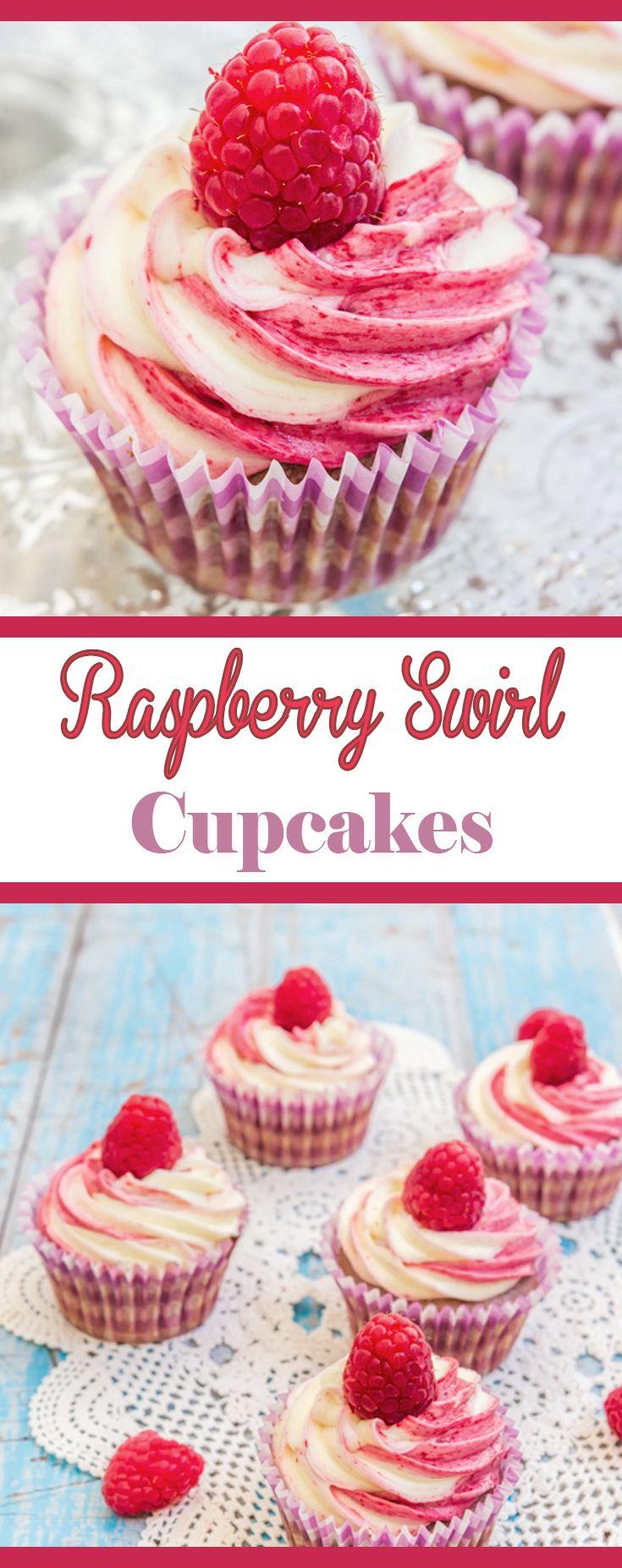 Raspberry Swirl Cupcakes