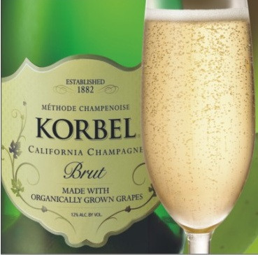 KORBEL Brut Made with #Organic Grapes