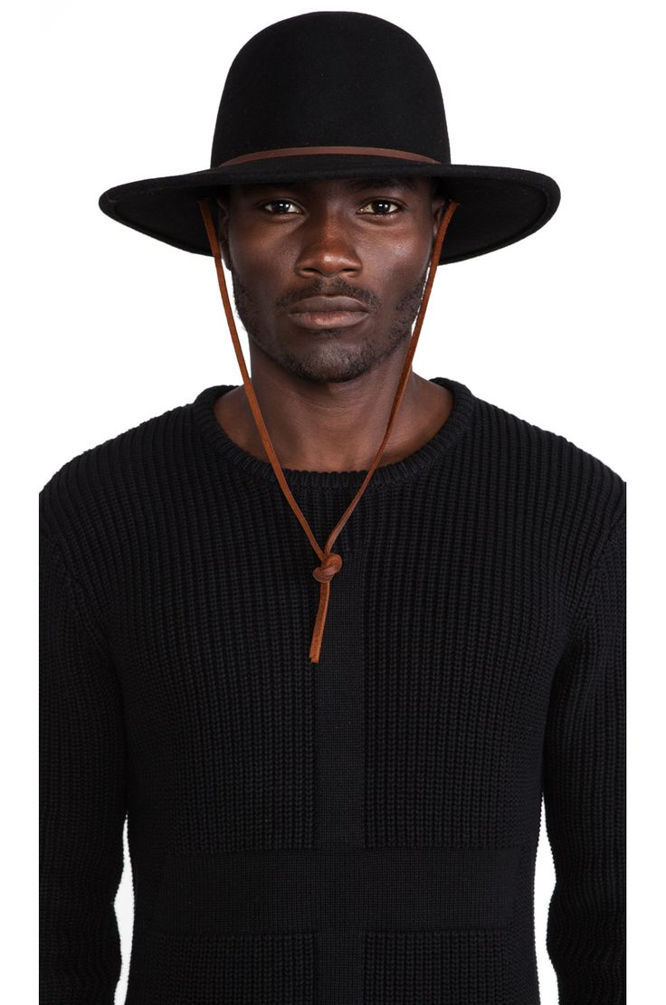 Brixton Tiller Wide Brim Hat in Black | REVOLVE