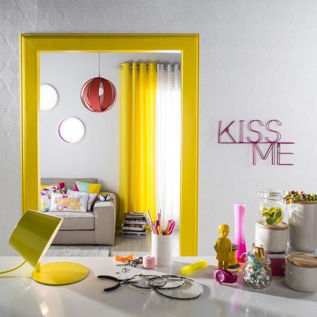 1000 id es sur le th me rideaux jaunes sur pinterest rideaux attacher les rideaux et voilages. Black Bedroom Furniture Sets. Home Design Ideas