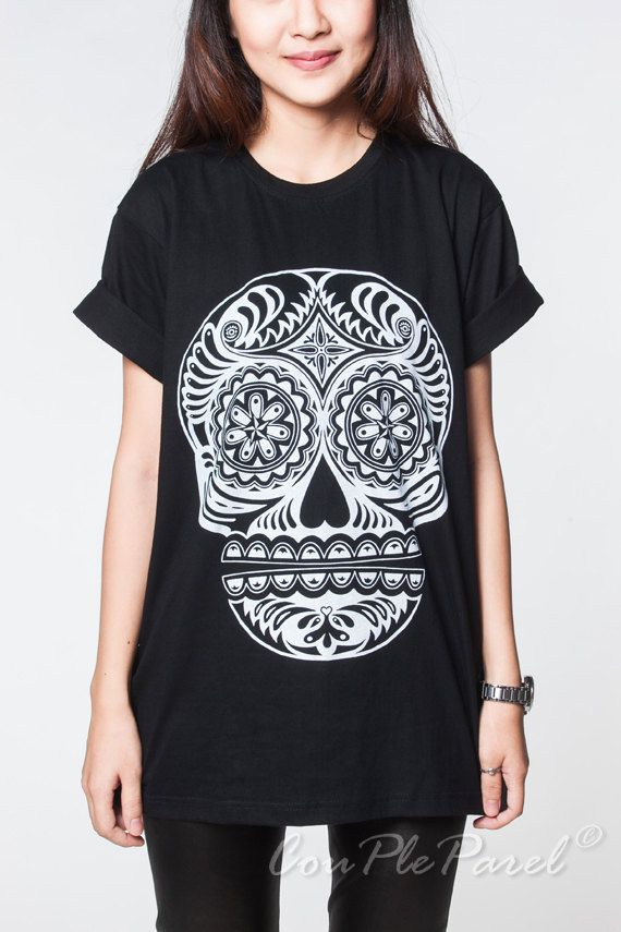 Day of The Dead Sugar Skull t-shirt | Dia De Los Muertos ...