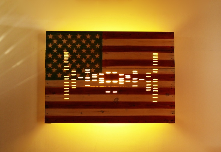 52x40 wood carved DNA acrylic stain with back light