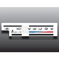 1989-1995 Toyota Pickup/4Runner White Heater Control Overlay $14