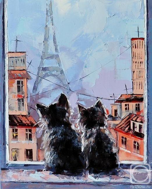 j'aime Paris... et j'aime les chats... (In Paris - Alexander Gunin)