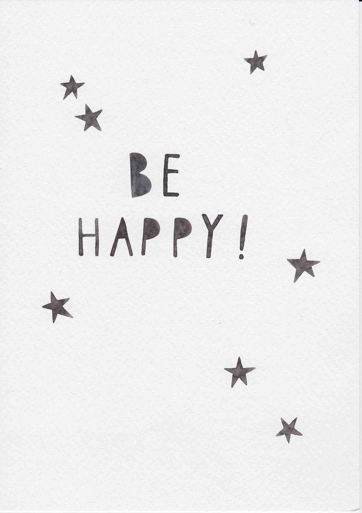 Skandi Nursery Wall Art, Minimalist Nursery, Nordic Kids Room Wall Art, Gift For Kids and Baby, Stars Nursery Art, Be Happy Quote by FeatherAndSixpence on Etsy