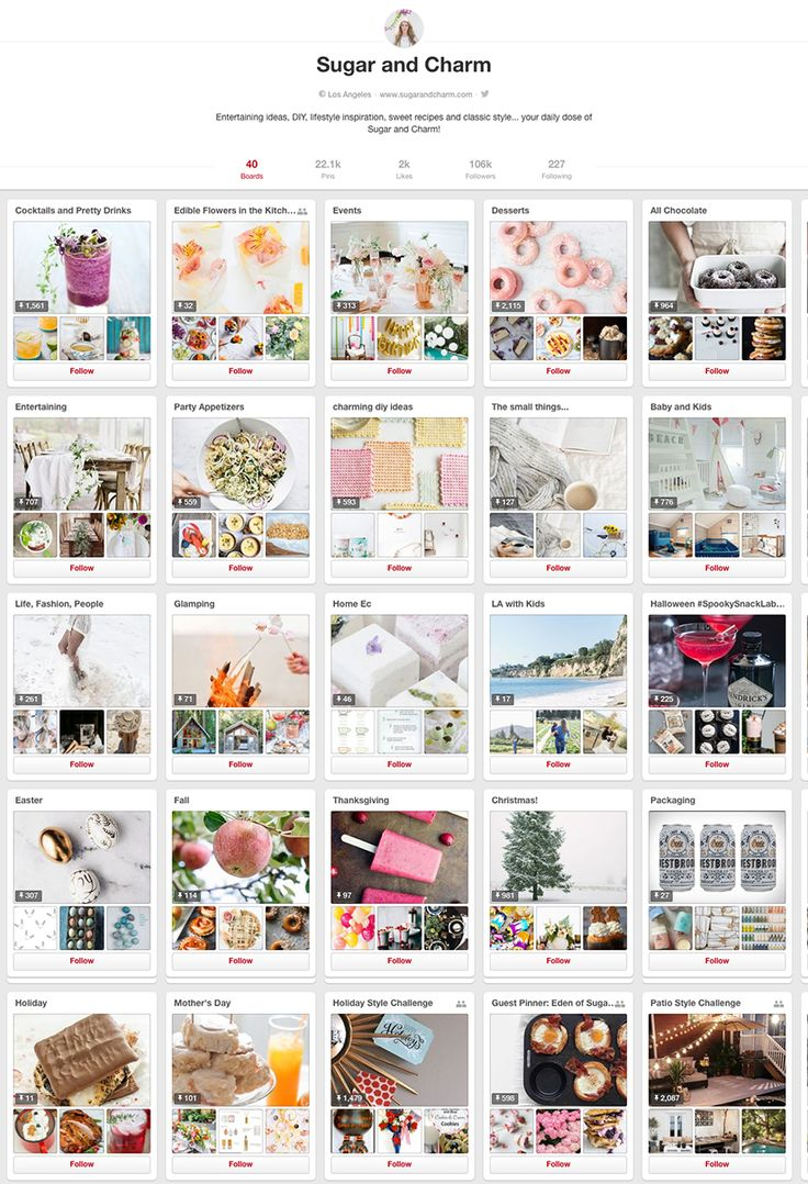 Sugar and Charm - 10 design accounts to follow on Pinterest