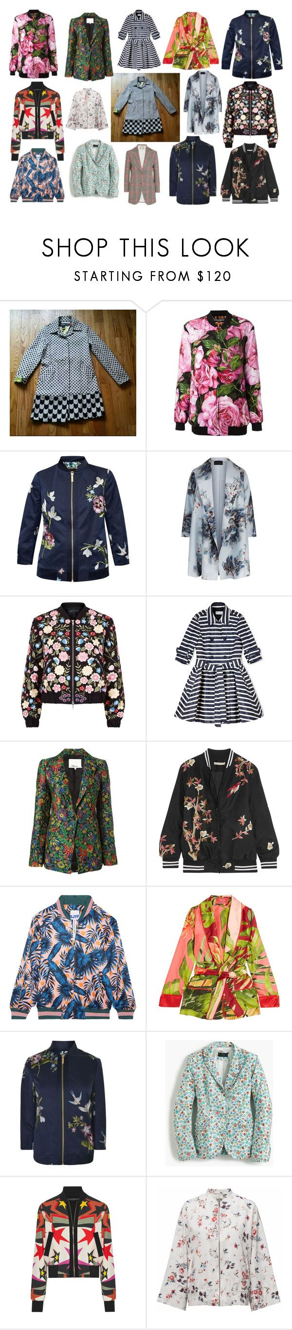 """Spring Jacket! #spring2017 #outerwear"" by sebmarketbk on Polyvore featuring Dolce&Gabbana, Ted Baker, Marina Rinaldi, Needle & Thread, RED Valentino, 3.1 Phillip Lim, Alice + Olivia, Steve J & Yoni P, F.R.S For Restless Sleepers and J.Crew"