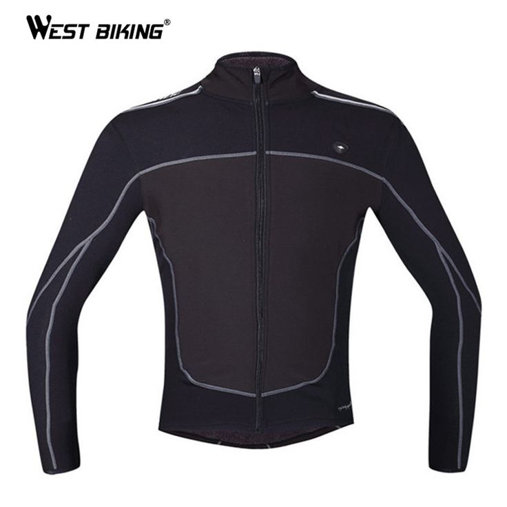 WEST BIKING Winter Cycling Clothing Windproof Thermal Fleece Warm Jacket Sports Ropa Ciclismo MTB Bike Bicycle Cycling Jersey
