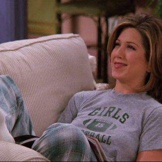 "Rachel's pyjama game was strong | 20 Things Rachel Wore In ""Friends"" That You'd Definitely Wear Now:"