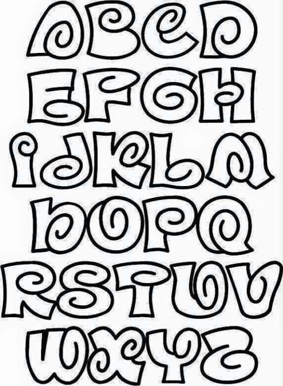 how to do different types of bubble writing alphabet
