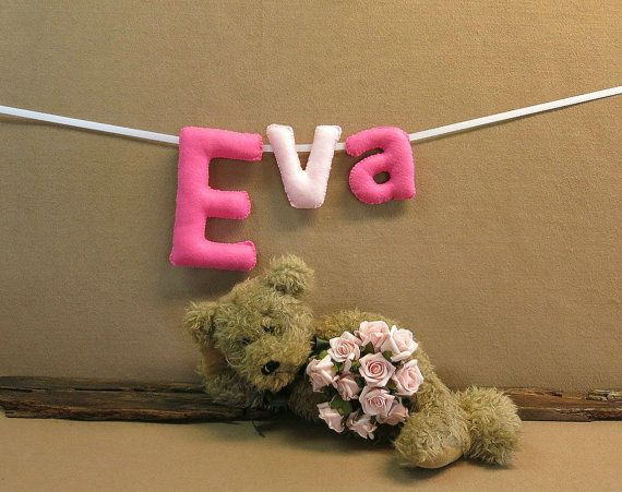 Name Banner Custom Felt Mobile Name Bunting by NchantedGifts