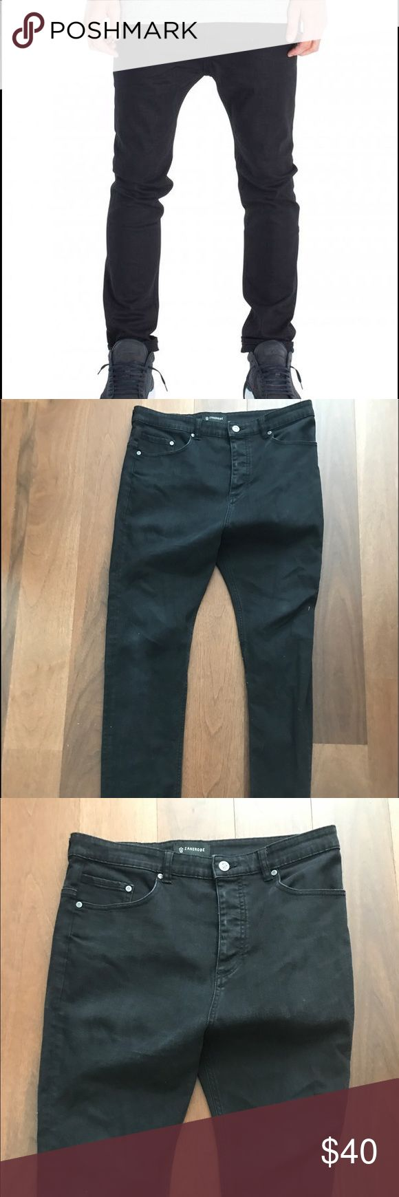 ZANEROBE low blow black drop crotch jean Sz 32 ZANEROBE low blow black drop crotch jean Sz 32 from urban outfitters Zanerobe Jeans Slim