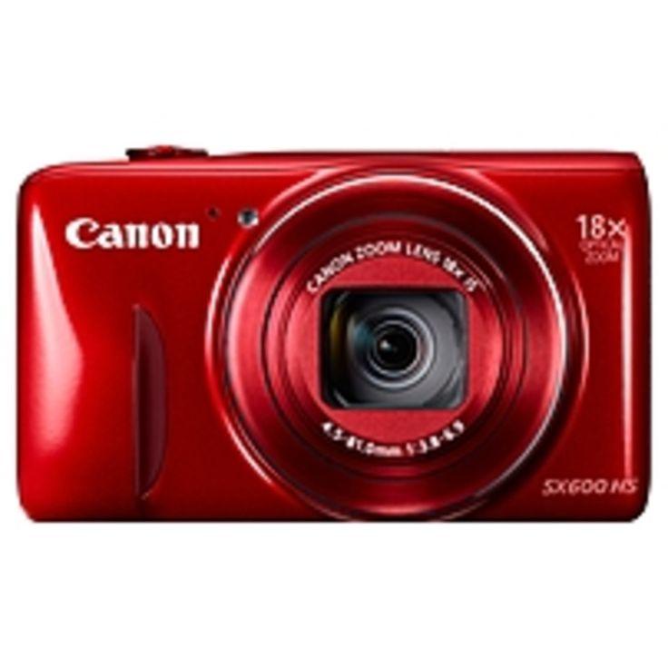 Canon PowerShot SX600 HS 16 Megapixel Compact Camera - Red - 3 LCD - 16:9 - 18x Optical Zoom - 4x - Optical (IS) - 4608 x 3456 Image - 1920 x 1080 Video - HDMI - PictBridge - HD Movie Mode - Wireless LAN