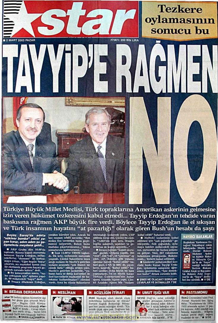 Star gazetesi 2 mart 2003