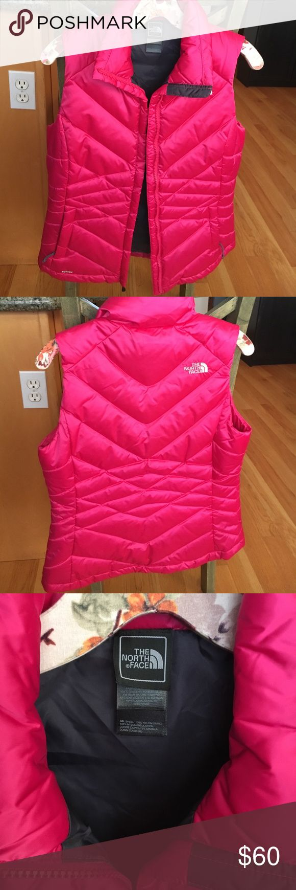 Brand new, hot pink, down North Face vest. Brand new, hot pink, down North Face vest. The North Face Jackets & Coats Vests