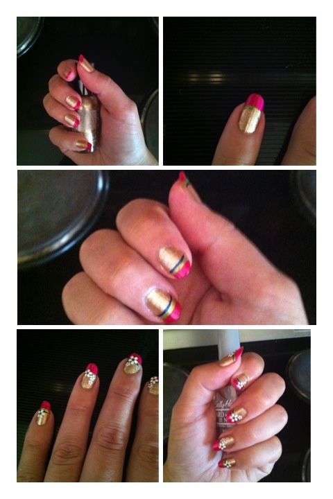 Étapes Nail Art quadrichromie