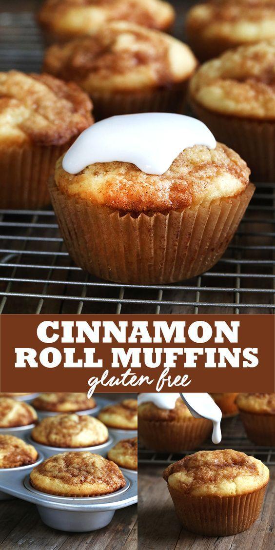 Free Cinnamon Roll Muffins | Gluten Free Cinnamon Rolls, Cinnamon Roll ...