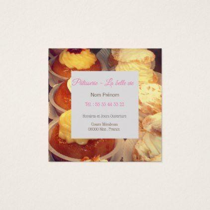 Carte De Visites Pour Des Ptisseries Square Business Card