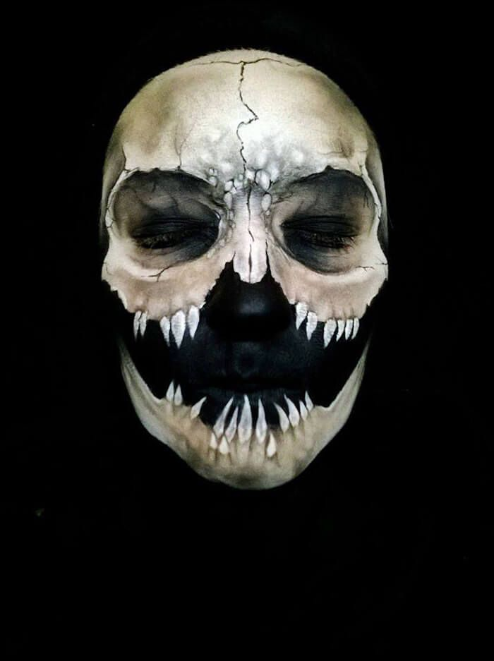 artist creates insane halloween make up masks scary halloween maskshalloween face - Scary Faces For Halloween With Makeup