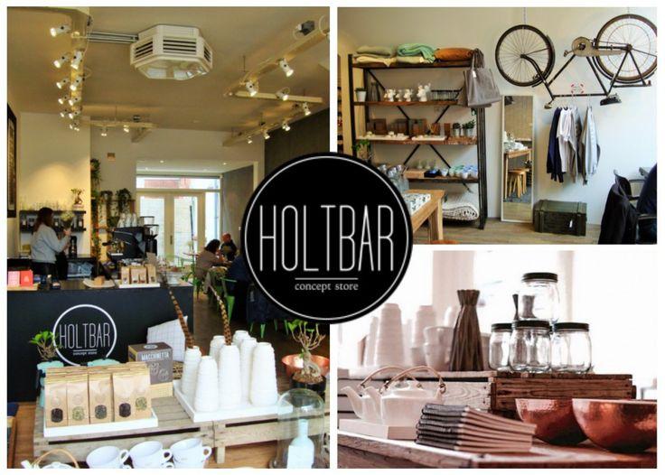 Holtbar, Groningen. Strijk hier tijdens het winkelen neer op een prachtige groene industriële café stoel voor een kop koffie of thee in een relaxte sfeer!