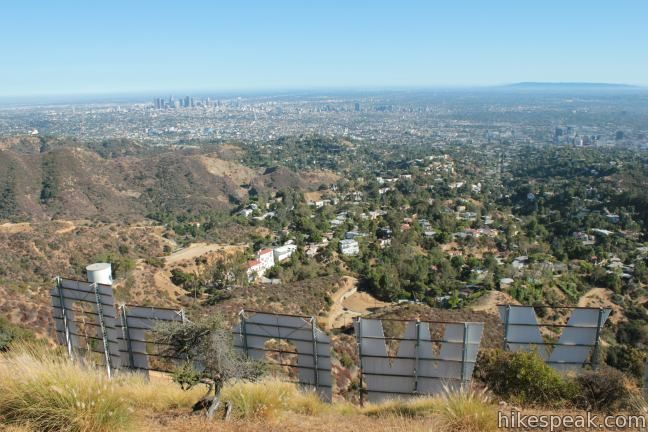 Looking out over the top of the Hollywood Sign