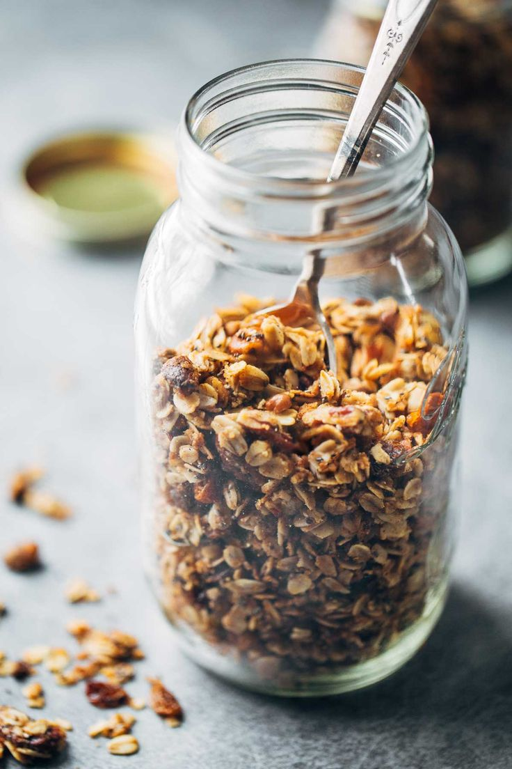 Coconut oil granola.