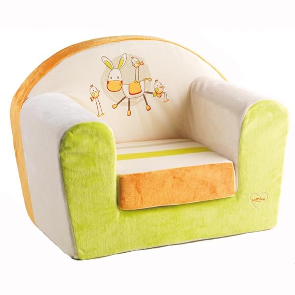 Fauteuil b b animaux de la ferme collection badou de for Housse fauteuil mousse bebe