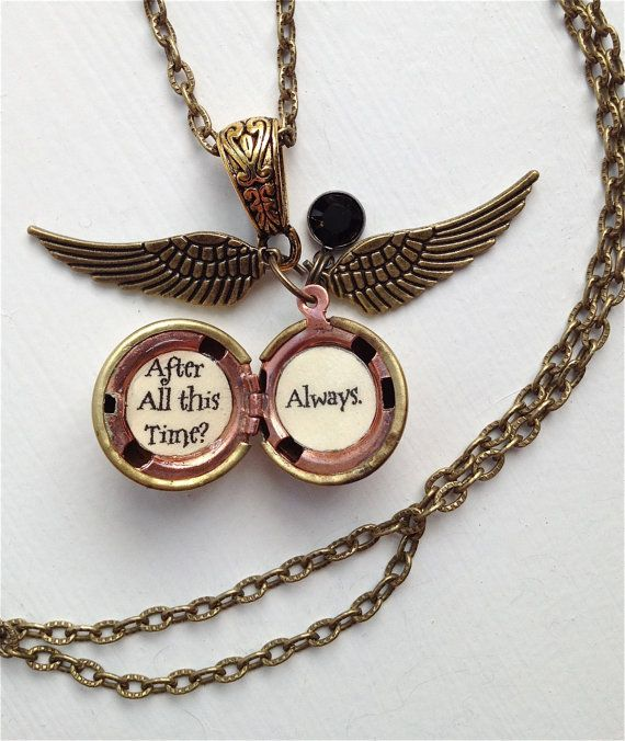 harry potter font golden snitch always necklace by
