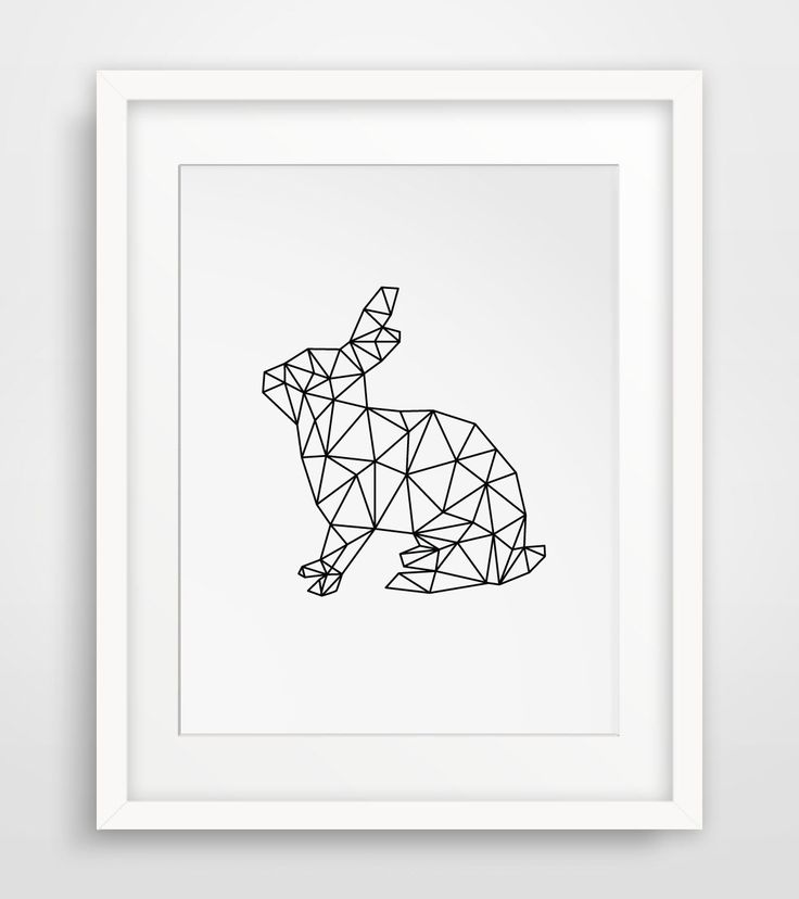 Rabbit Print, Geometric Digital Art, Rabbit, Animal Wall Decor, Digital Rabbit, Animals, Wall Art, Geometric Animal, Printable Art by MelindaWoodDesigns on Etsy https://www.etsy.com/listing/221437788/rabbit-print-geometric-digital-art