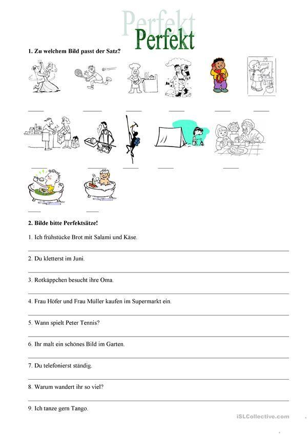 Perfekt Deutsch Lernen Deutsch Unterricht Text Auf Deutsch
