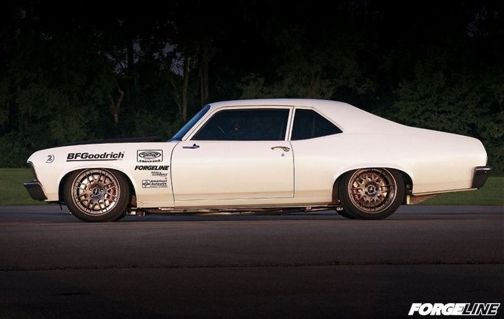 Another mean machine by the legend, Brian Finch, at Hot Rod Transformations. This '70 Nova is powered by a 800+HP 501ci LS and wraps the BFG rubber around 18 inch Forgeline GX3 wheels.